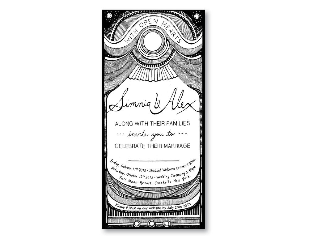 Simnia and Alex Wedding Invite