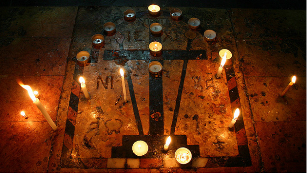 Cross and Candles via flickr - courtesy of J McDowell