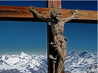Crucifix on the Klein Matterhorn - courtesy of On Being via Flickr