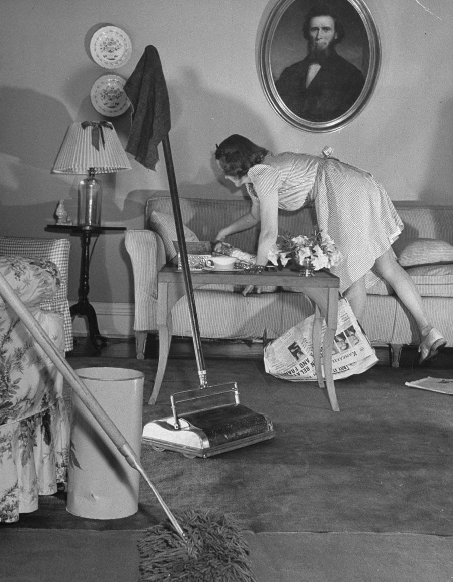 Things have changed since the 50's when women used to stay home to clean and cook.