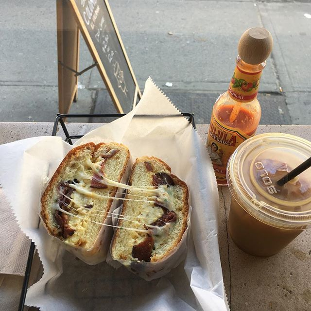 @early.bk, not even I'm immune to your social media power. Nice post this morning. Had to come in and try for myself... #BEC with an iced #coffee.