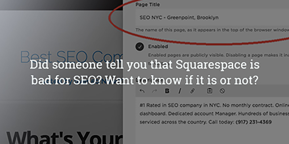 Is Squarespace bad for SEO?