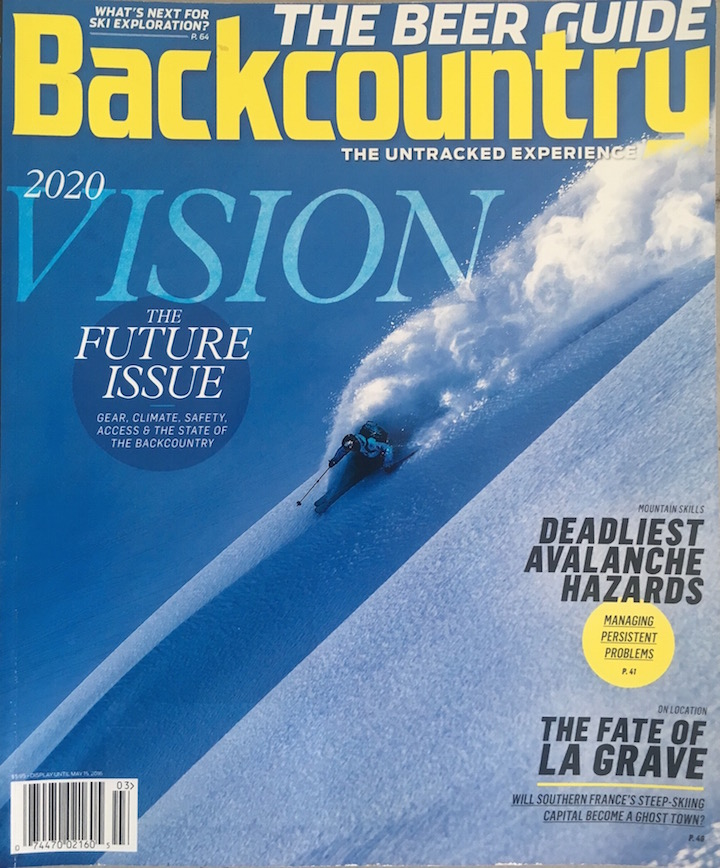 March 2016  An essay that looks at whether the new safety gear available to backcountry skiers is actually increasing overall safety and decreasing injuries and accidents