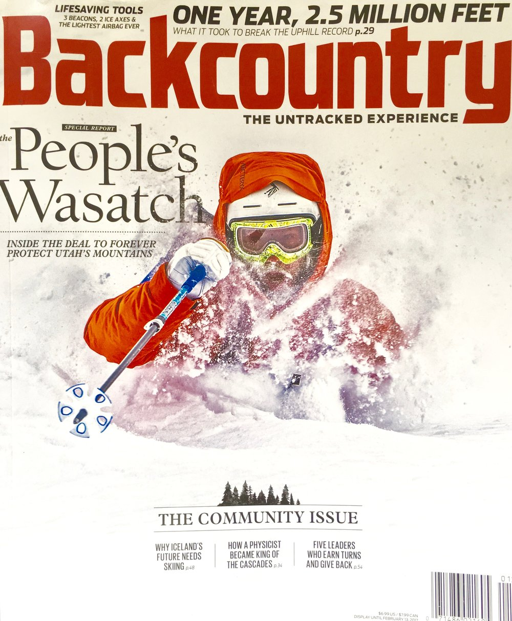 January 2017 A profile of backcountry skier and wolverine researcher Rebecca Watters