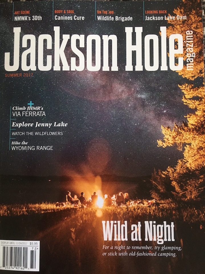 Summer 2017,  Jackson Hole Magazine The Skyline Trail: A history and highlights of new 6-mile bike and hike trail on US Forest Service land (Bridger-Teton National Forest).