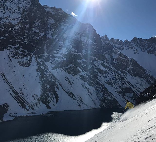Summer is nice and all...but you can't beat an Andean schuss in August...! Fun times #onlyinportillo boy do I love South America! Pc @scoutskigallery