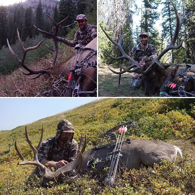 It was a crazy, wonderful September following @andrew_jakovac around the wilderness in Wyoming and Idaho! I'm so proud of his super sneaky archery skills and best season ever! (For me) a little bittersweet at times but such skilled hunting certainly gives invaluable and amazing clarity into our natural world...Thanks for letting me and @littledingodog tag along! #keepitpublic