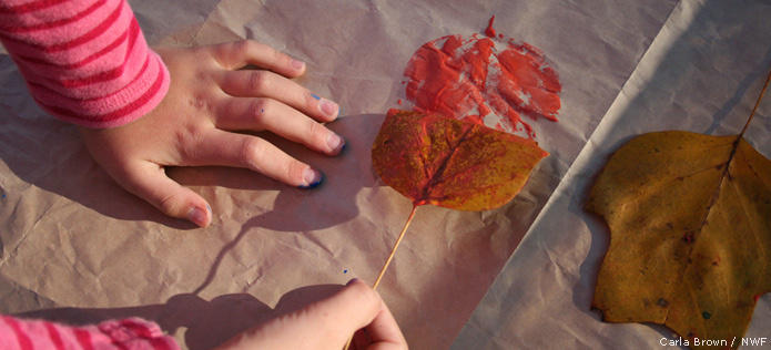 Paint Leaf Prints
