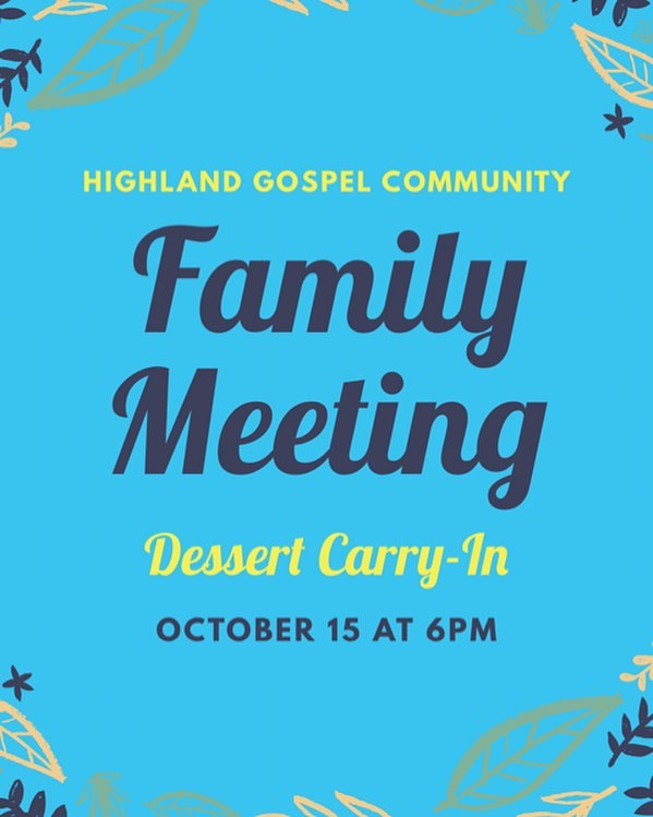 Don't forget there's a family meeting this Sunday night!