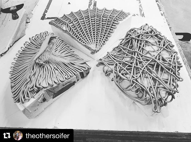 M.Arch Thesis work by #Repost @theothersoifer ・・・ Yesterdays printing progress. Now just need to figure out how to fire them @nathanlynchart any suggestions.  #grasshopper3d #potterbot #thesis #thisisthesis #ccaarchitecture #ccaceramics