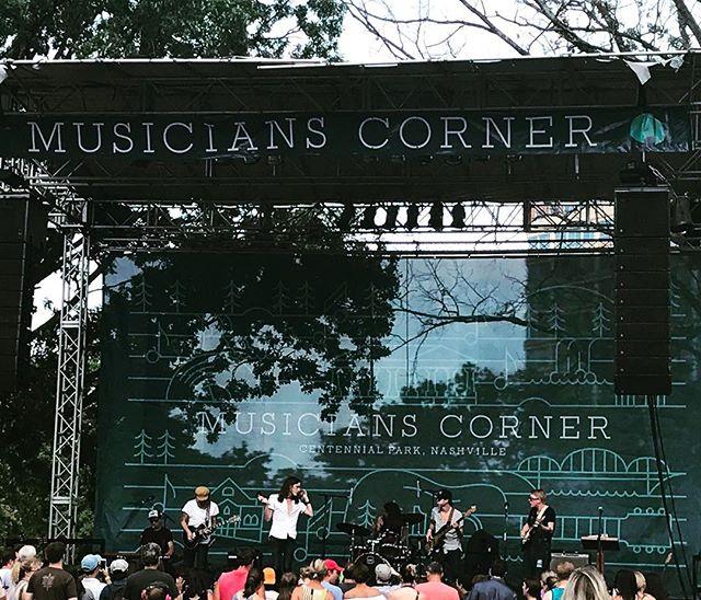 Perfect weather and live music. Listening to Nashvilles own @theweeksmusic #centennialpark #musicianscorner #livemusic #roadtrip #nashville