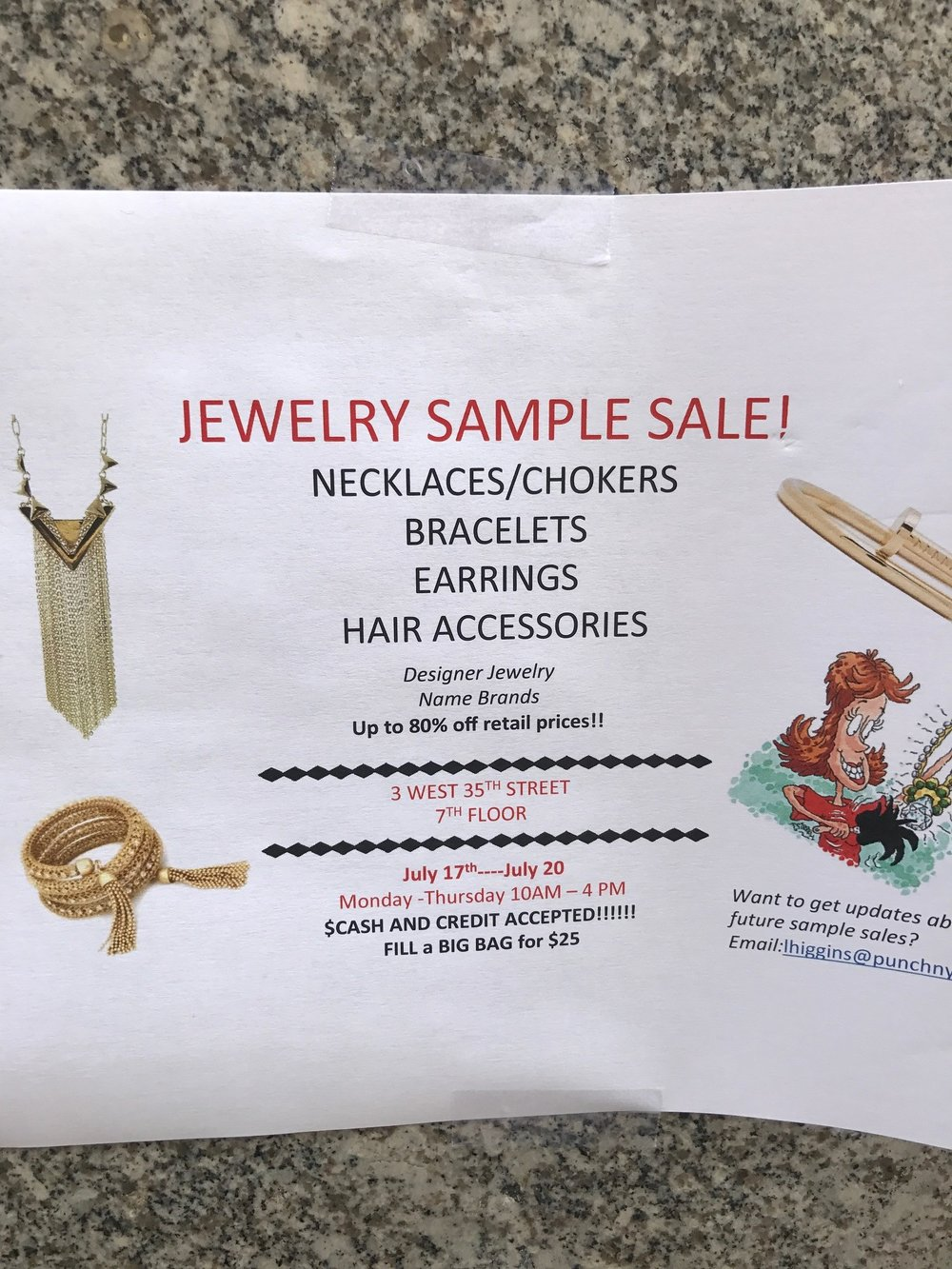 Jewelry Sample Sale Nyc Bibi Camilo