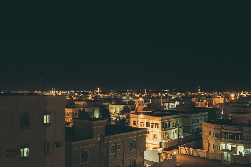 Skyline after Dark. Sur, Oman