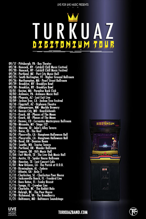 The Digitonium Fall Tour will be presented by our good friends at Live For Live Music! Check out the details - HERE!