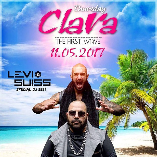 Catch us at @claratlv tomorrow night for The First Wave...#TN1!  #LeviAndSuiss #JoyRecords #Clara #TelAviv #SummerTime #SummerIsHere #TheFirstWave