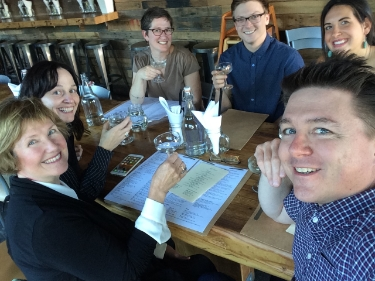 Combustible Media Team Celebrates Website Launch in Portland