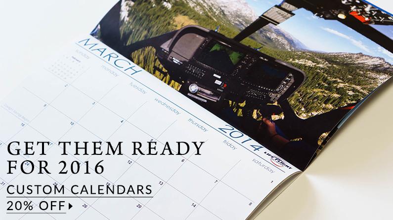 Custom Calendars for 2016
