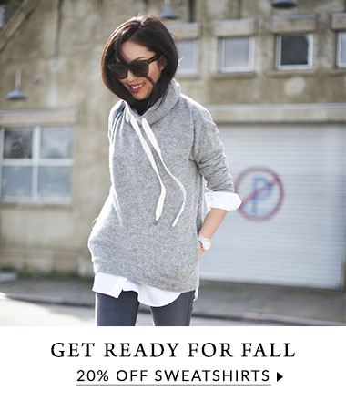 Get ready for fall with 20% off sweatshirts