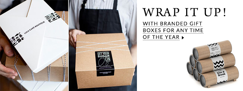 Branded gift and delivery boxes