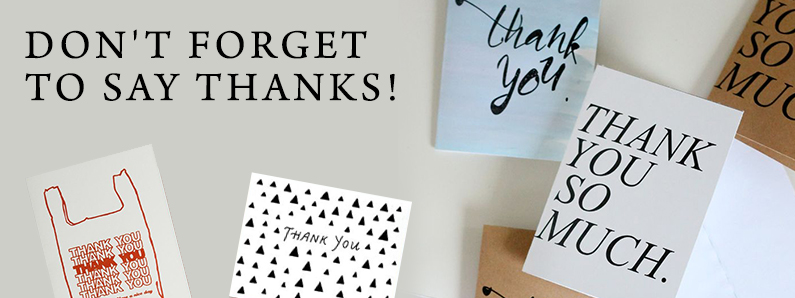 Thank you cards for your holiday gifts