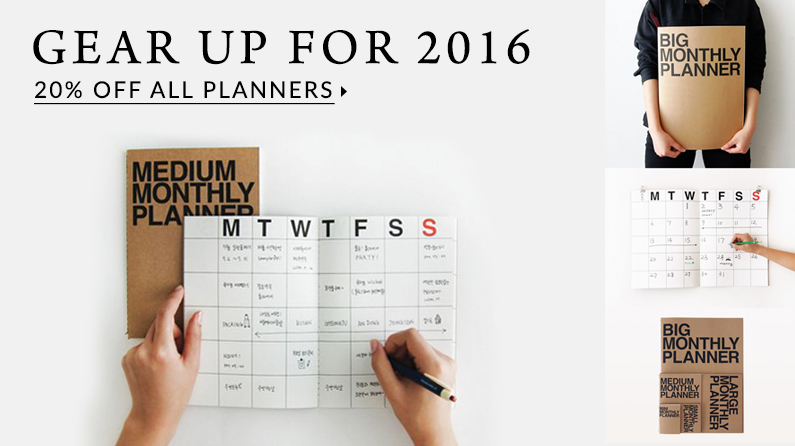 Planners for 2016