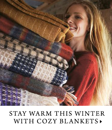 Warm, cozy blankets to keep you comfortable this winter