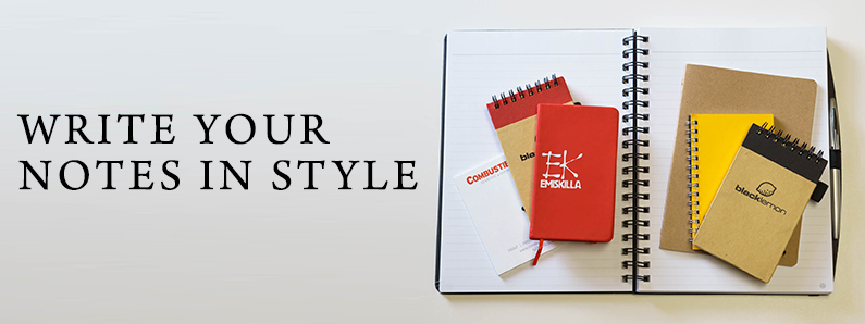 Notebooks in all shapes, sizes, styles