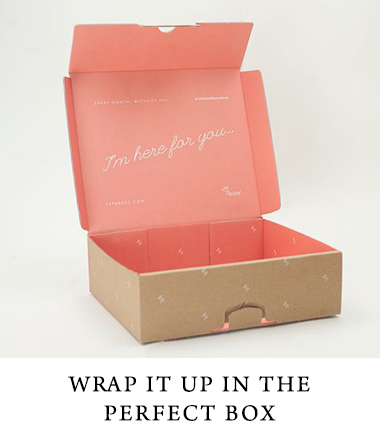 Custom printed boxes to send to your clients- wrap it up
