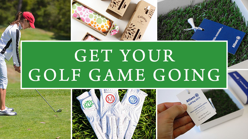 Get your golf game going! branded promotional golf items for employees and clients