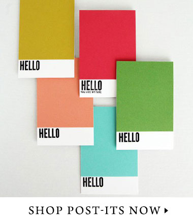 Branded post-it notes for your clients or employees