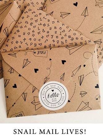 Make your snail mail stand out with custom envelopes