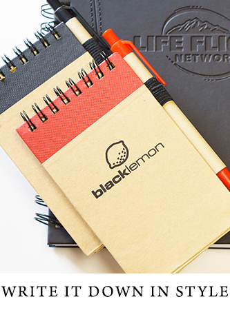 Branded notepads, notebooks and jotters
