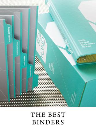 Custom branded binders