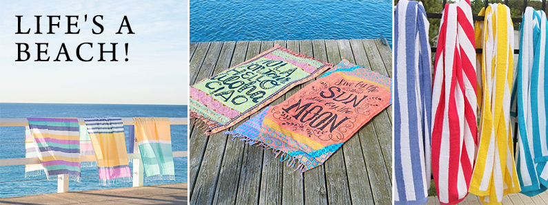 Branded beach towels for summer