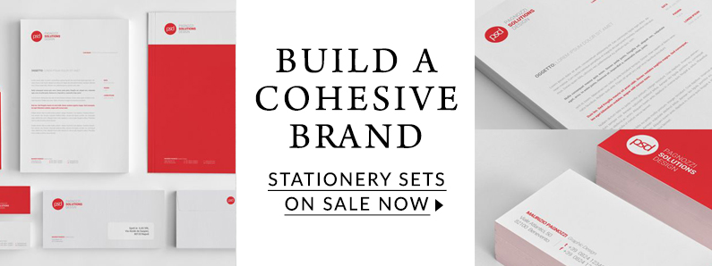 Build a cohesive brand with a sale on stationery sets
