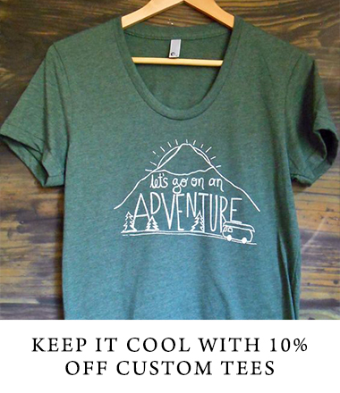 Keep it cool and save 10% off custom tees