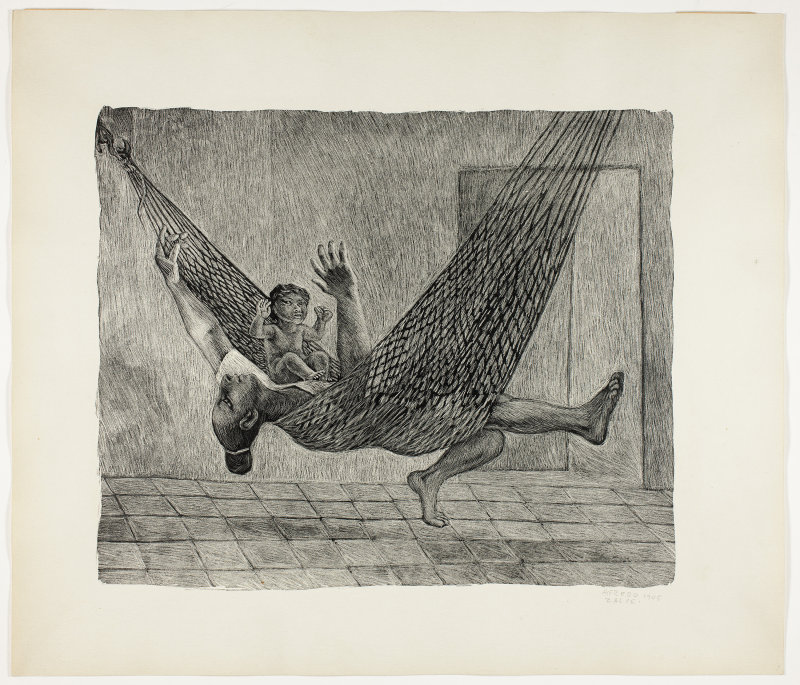 Alfredo Zalce. In the Hammock, from Estampas de Yucatán, 1946.