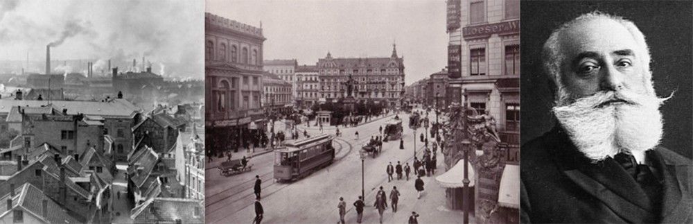 Krupp works, Essen (1890); Alexanderplatz, Berlin (1903); Max Nordau