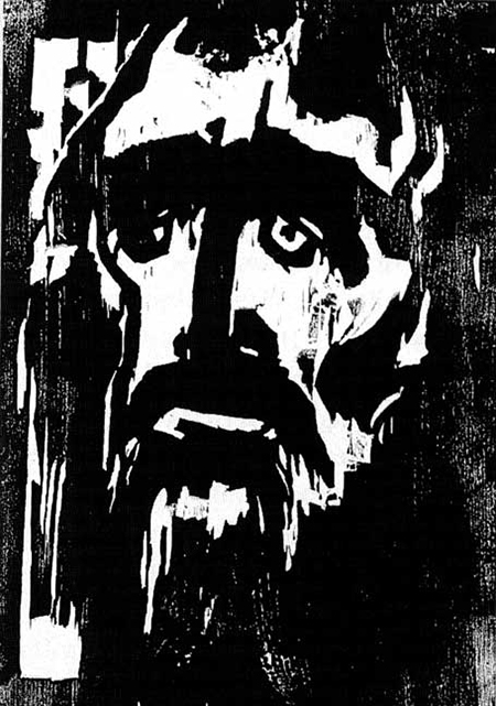 "Emile Nolde's ""Prophet."" Nolde, despite his membership in the Nazi party and active support for the regime, was banned from making artwork and had more than 1,000 works seized from German museums."