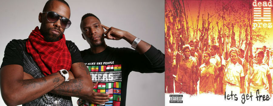 dead prez ( © Zubari, 2008), the cover art from Let's Get Free (Loud Records, 2000)