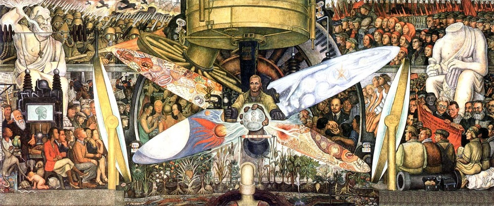 Tatlin groans art at the crossroads of fear hypocrisy for Diego rivera creation mural