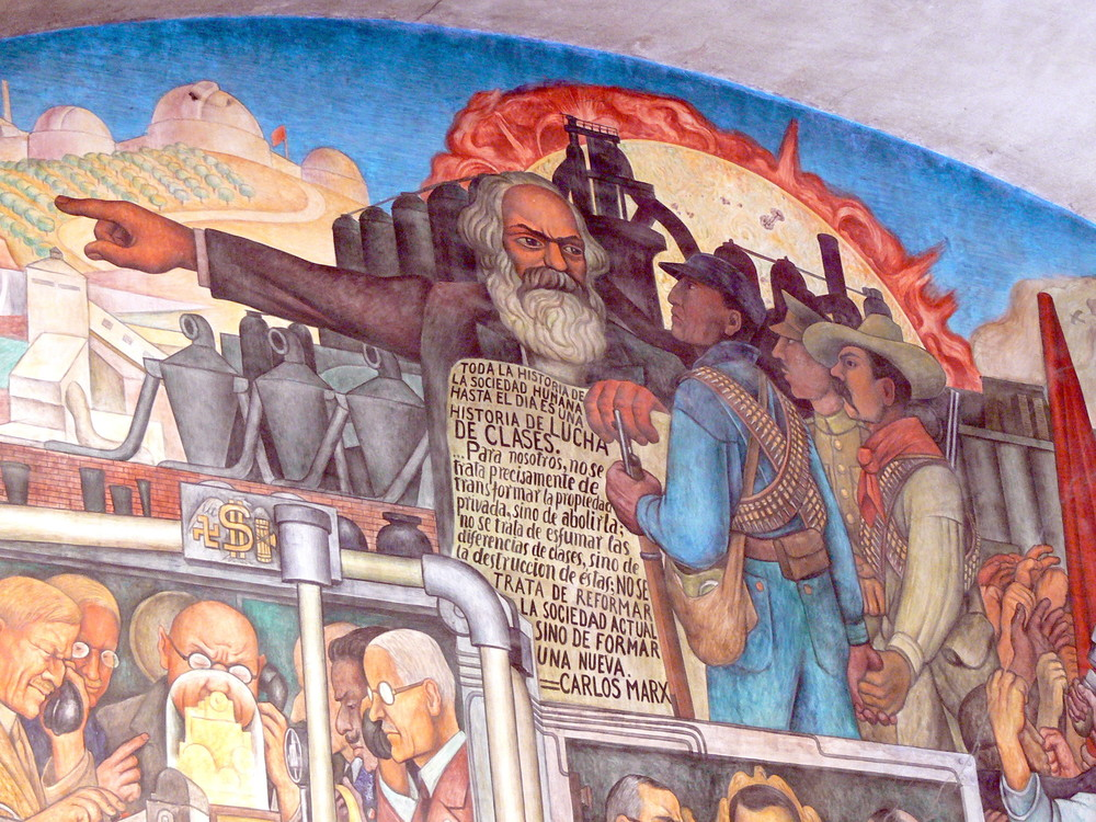 Diego Rivera, National Palace murals, History of Mexico (detail).
