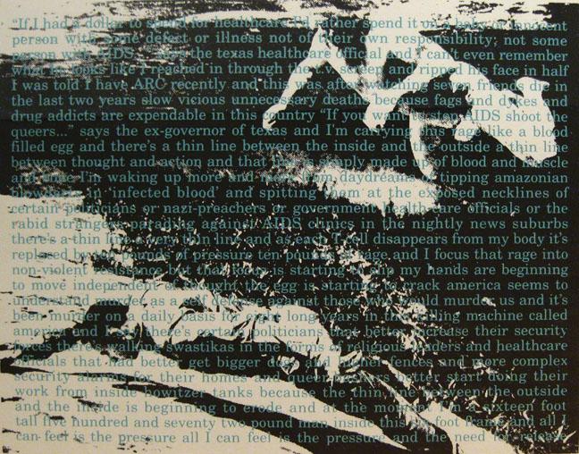David Wojnarowicz, Untitled for ACT UP (detail) 1990