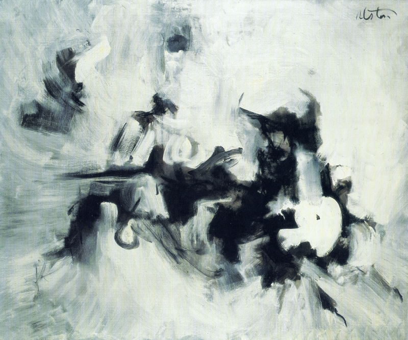 Charles Alston, Black and White #7 (1961), Oil on canvas , 5 x 54 inches