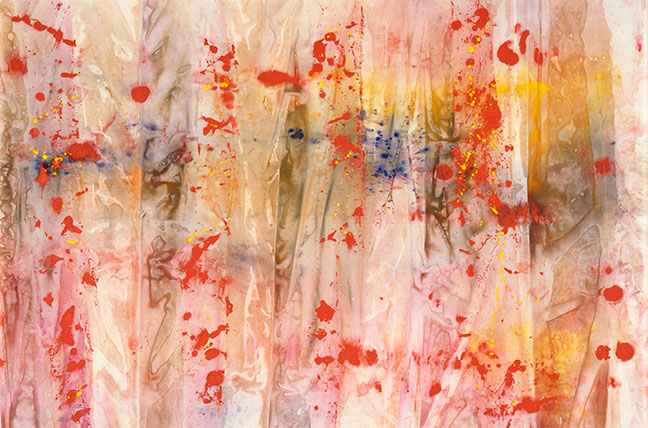 Sam Gilliam, Red April, 1970, Acrylic on canvas, 10 x 160 inches