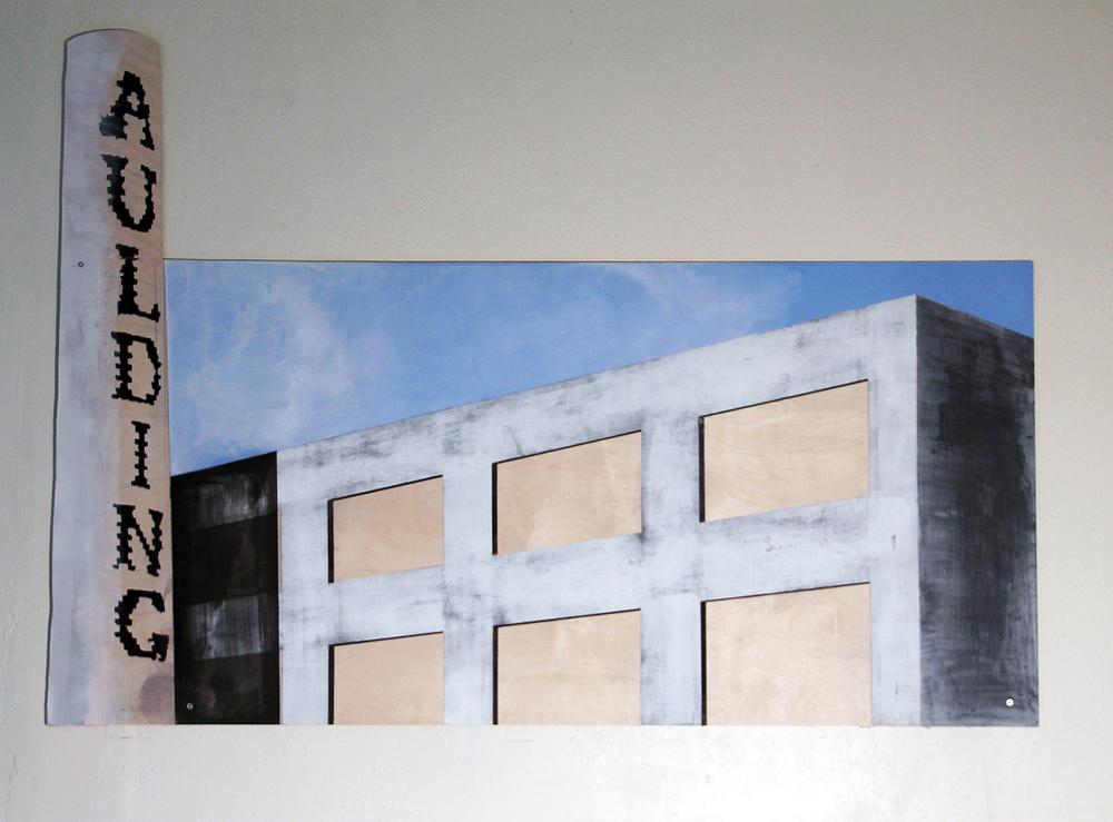 "Danica Radoshevich,""Aulding  ,"" painting"