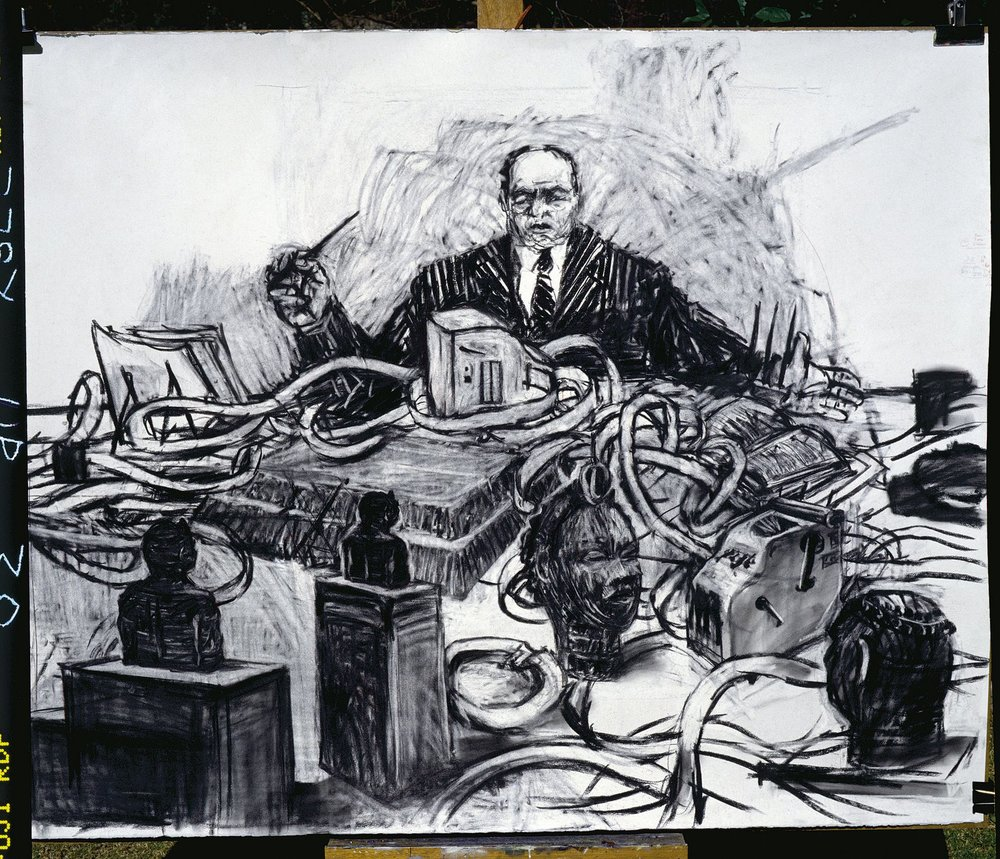 William Kentridge, Mine (1991), film still