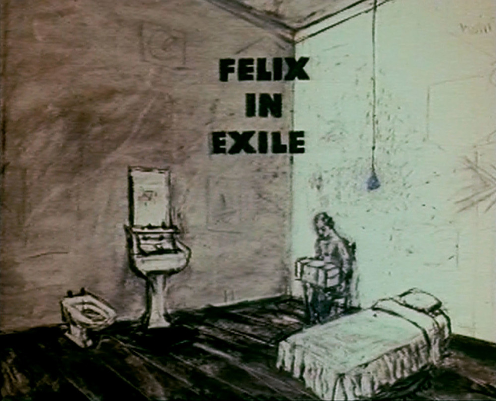 William Kentridge, Felix in Exile (1994), film still