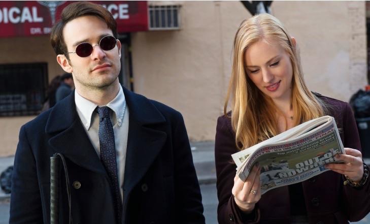 Matt Murdock(Charlie Cox) and Karen Page (Debora Ann Woll)