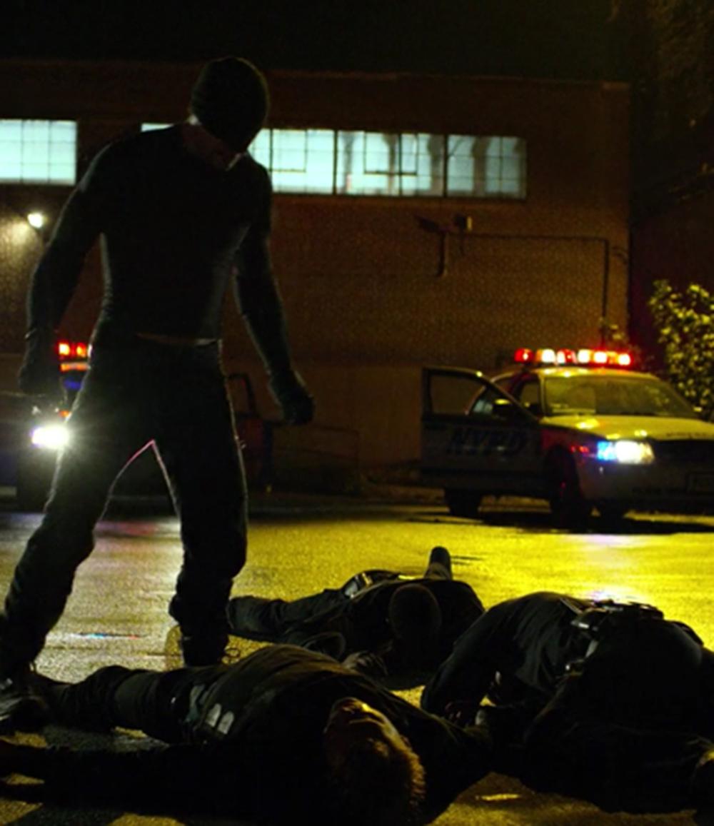 Daredevil vs. the police